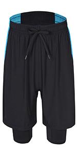 Men's 2-in-1 Training Running Gym Wear Pants Shorts