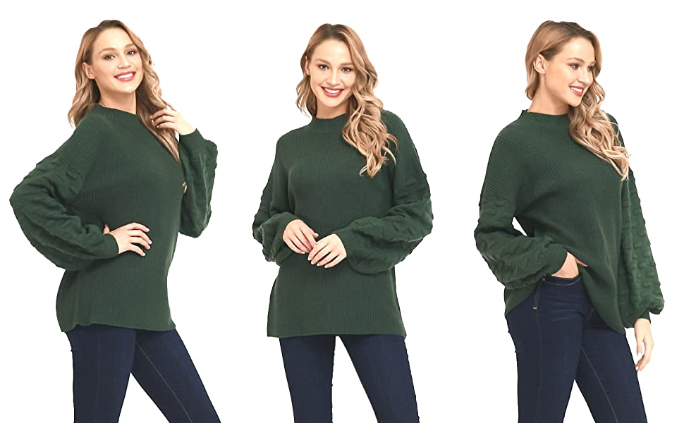chunky knit sweater for women
