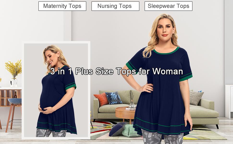 plus sizse maternity tops