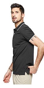 LecGee Men's Polo Shirts Regular Fit Golf Shirt Short Sleeves Athletic T-Shirts