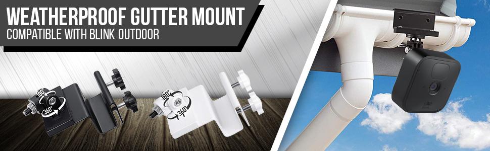 Weatherproof Gutter Mount compatible with Blink Outdoor amp; Blink XT2/XT