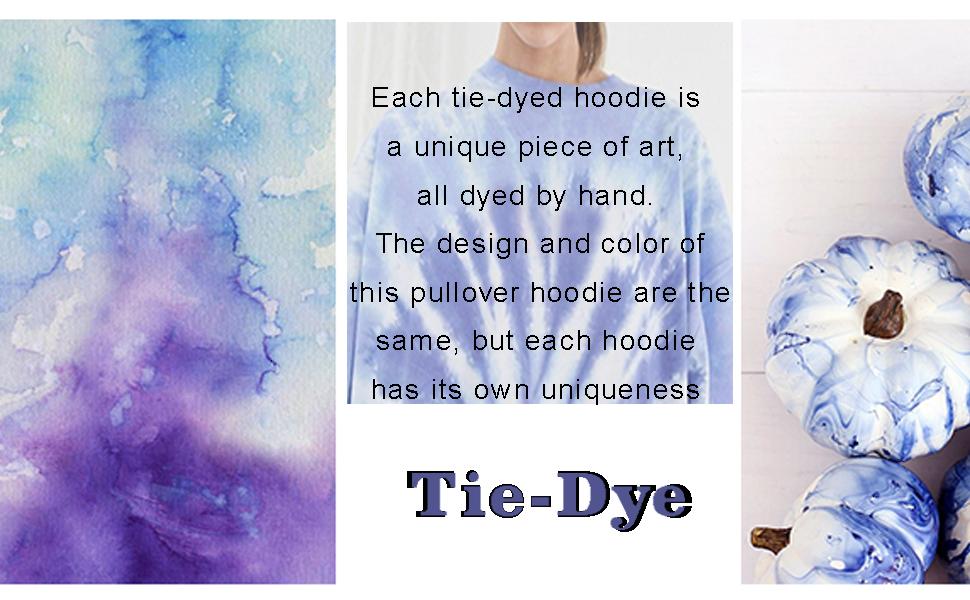 tie dye hoodie long sleeves