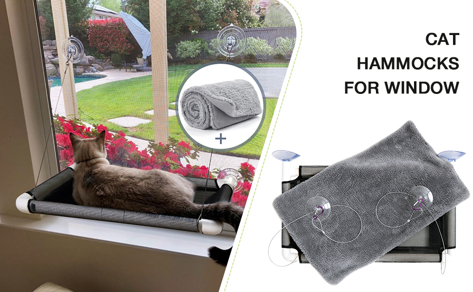 Cat Bed Pet Resting Seat Safety Holds Two Large Cats