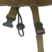 Elastic hem cord with toggle and buckled straps