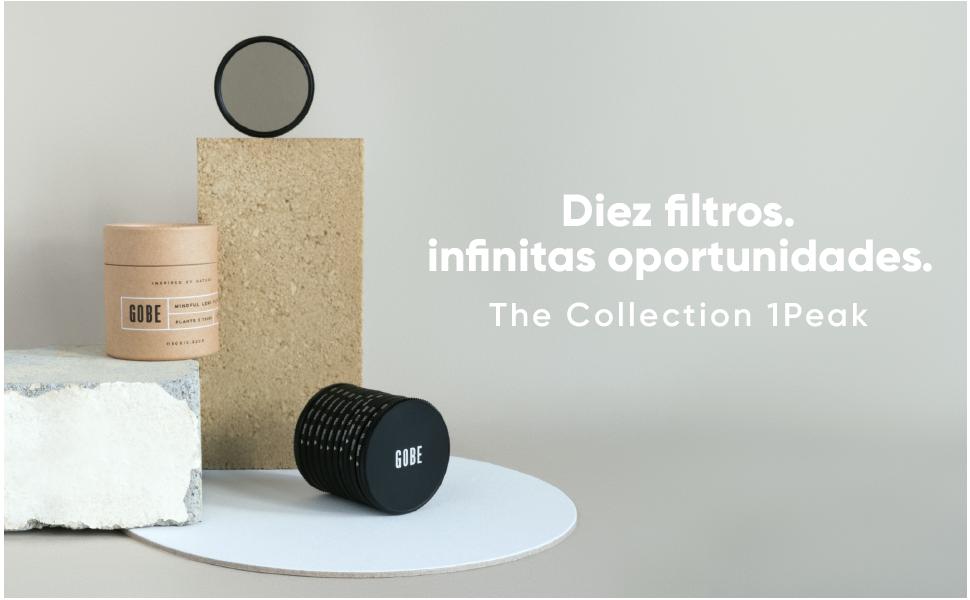 Gobe - Kit de Filtros para Objetivo 52 mm UV, Polarizado Circular, FLD, ND1000 + Graduado Naranja, Azul, Gris, Rojo, Amarillo, Verde (1Peak): Amazon.es: Electrónica