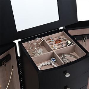 Makeup Mirror and Organized Storage