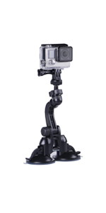 gopro double Suction Cup Mount