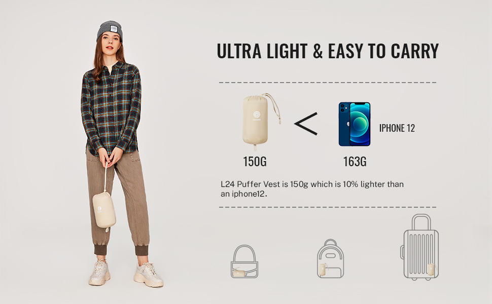 Light and packable