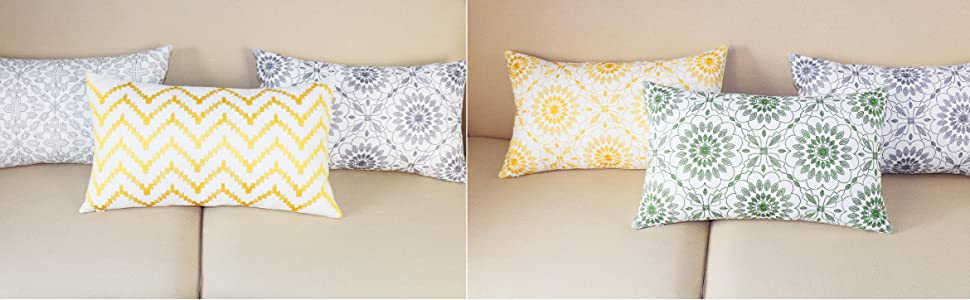 embroidery lumbar throw pillows