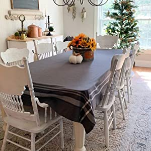 gray french line tablecloth