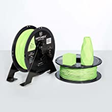pla roll contains a 1 kg spool at 1.75 mm filament diameter and dimensional accuracy of +/- 0.03 mm