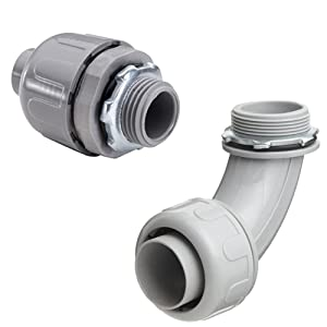 liquid tight fittings, electrical fittings, straight fittings