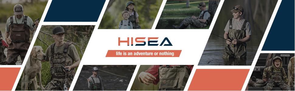 hisea kids chest hunting waders