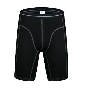 Men's black long boxers