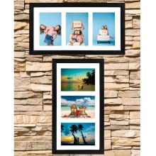"tasse verre 4x6"" collage frame with mat and 8x14 inches without mat hang on wall easy vertical"