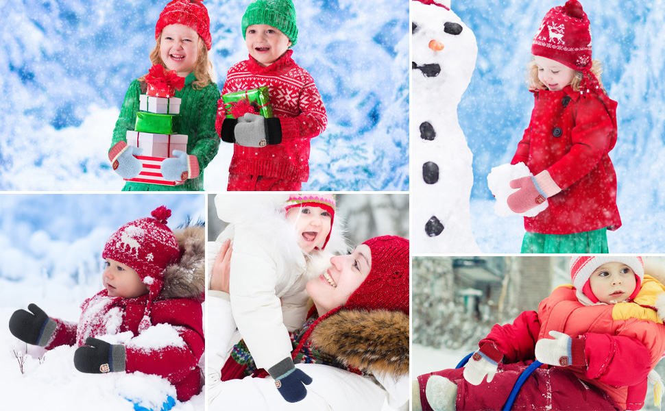 toddler boys girls mittens