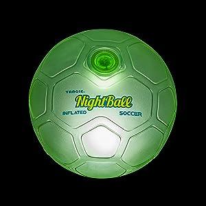 tangle nightball green soccer ball glow lightup sports