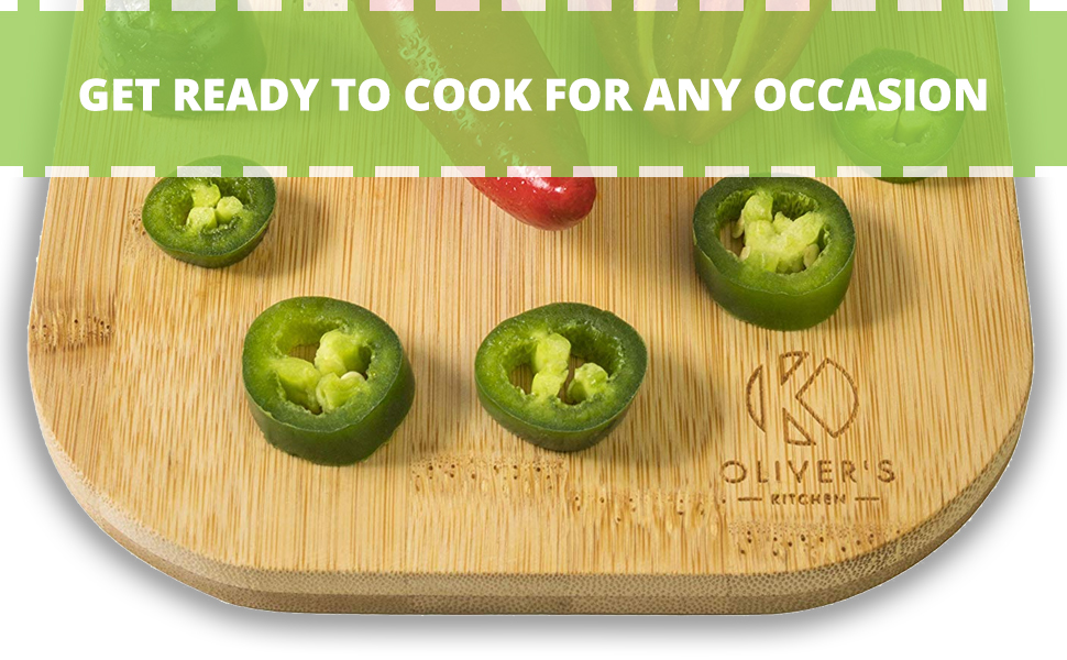 Wooden cutting boards, 3 different sizes, ready to cook for any occasion in any kitchen
