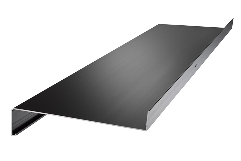 1400 mm Lang Fensterbank Silber Ohne Seitenteile Fensterbrett 210 mm Tief