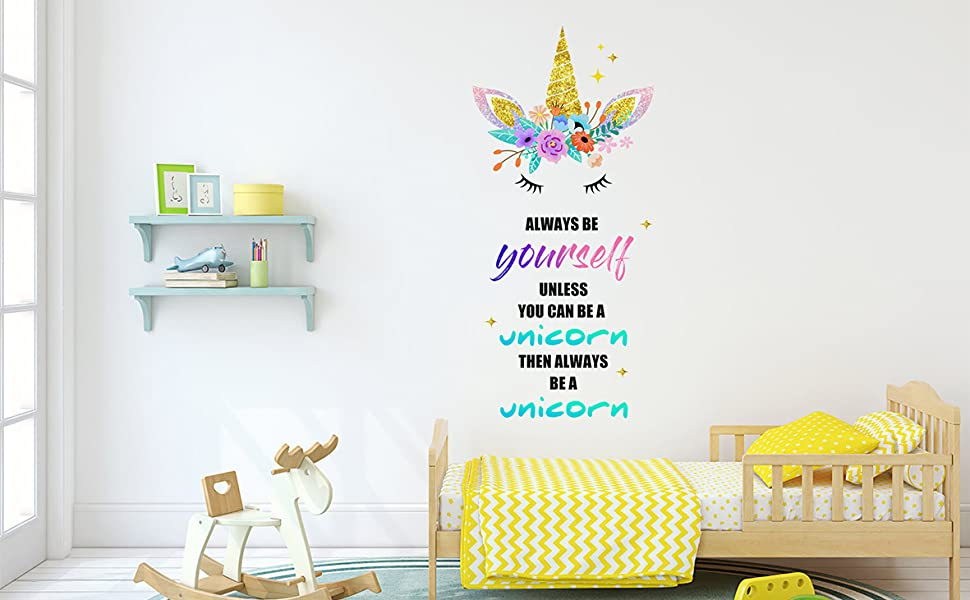 unicorn wall stickers for bedroom