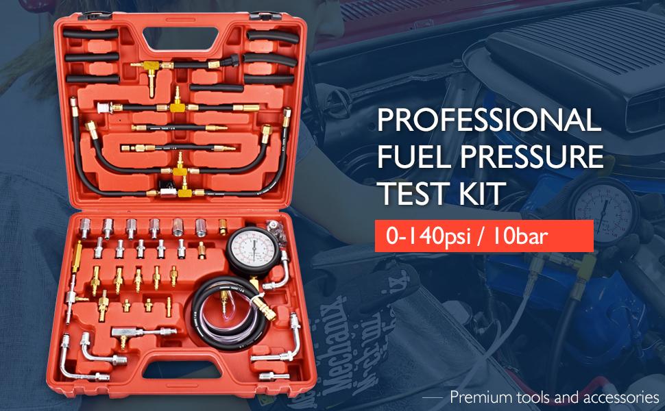 Fuel Injection Pressure Gauge Tester Kit