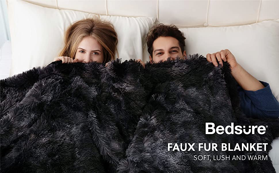 Get Cozy with Plush Faux Fur Tie-dye Fleece Blanket