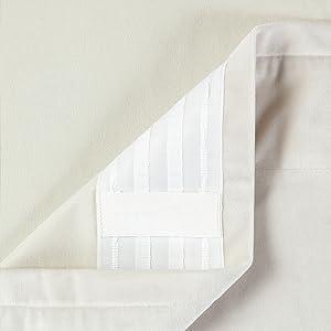 rod pocket tab ring top curtain backing