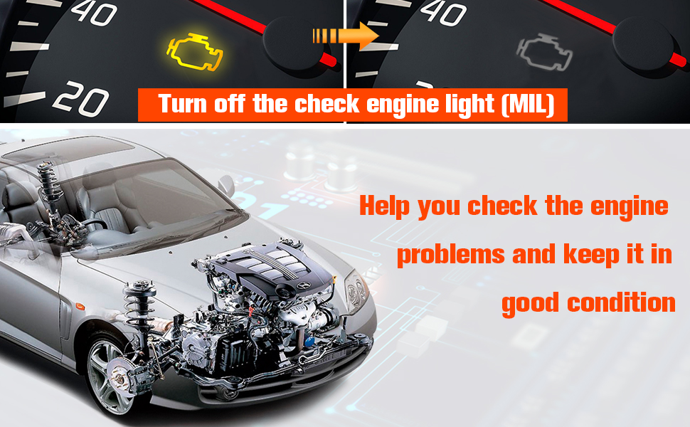 Read Clear Codes View Freeze Frame Data I//M Readiness Smog Check Car Diagnostic Scanner NEXPEAK NX201 Universal OBD2 Reader Car Engine Fault Code Scanner