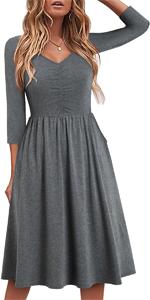 fall dresses for women fall dress 3/4 sleeve for women black dress fall dresses with sleeves cotton