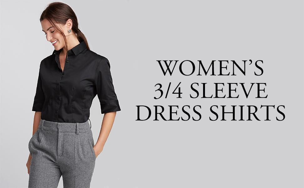 3/4 sleeve dress shirt