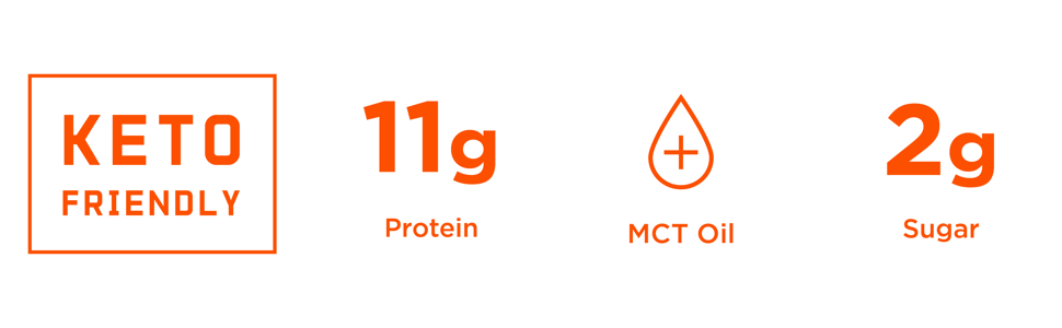 keto collagen protein bar, with mct oil, high protein