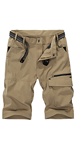 Men's Outdoor Hiking Convertible Pants Quick Dry Lightweight Zip Off Pants Military Trousers