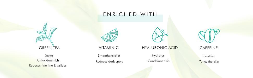 vitamin c reduces dark spots skin conditioning caffeine tones skin