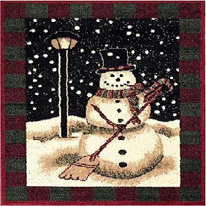 taianle Alfombra de Navidad Alfombra de Puerta de Navidad Corredor Vell/ón Oral Antideslizante Alfombras de Ba/ño Alfombras de /Área Felpudos para La Entrada Cocina Comedor Sala de Estar