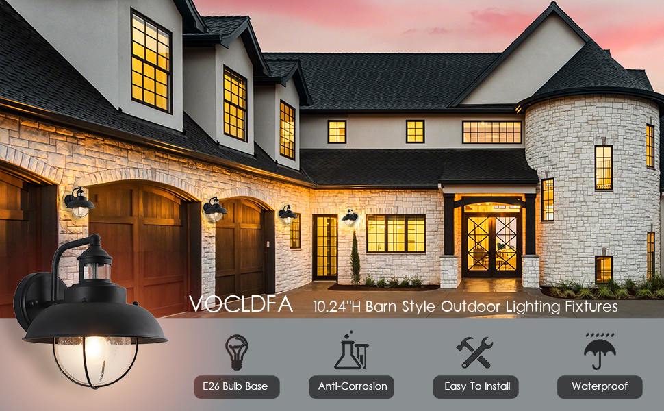 VOCLDFA barn outdoor lighting porch lamp fixtures outside wall lantern exterior lights small