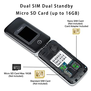 Way to insert SIM card Micro SD card