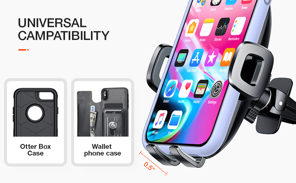 torras car phone holder for iphone samsung galaxy s20 note 10 plus