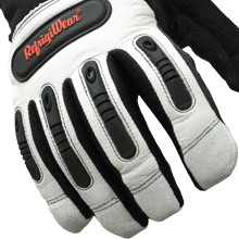 0353R Ergo Goatskin Glove inpact protection on knuckles fingers and palms