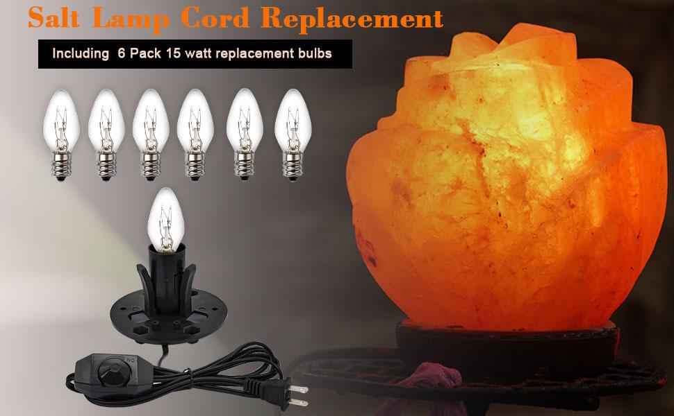 Salt lamp cord replacement