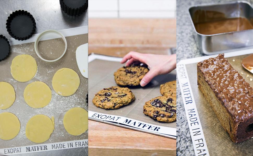 exopat, silicon baking mat, baking mat, baking silicone, silicon baking, nonstick sheet baking sheet