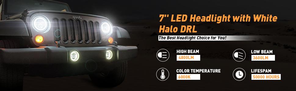 ZGAUTO Jeep Wrangler LED Rear Third Brake Light for 2007-2017 Jeep JK Tail Lights Lamp High Mount Stop Light