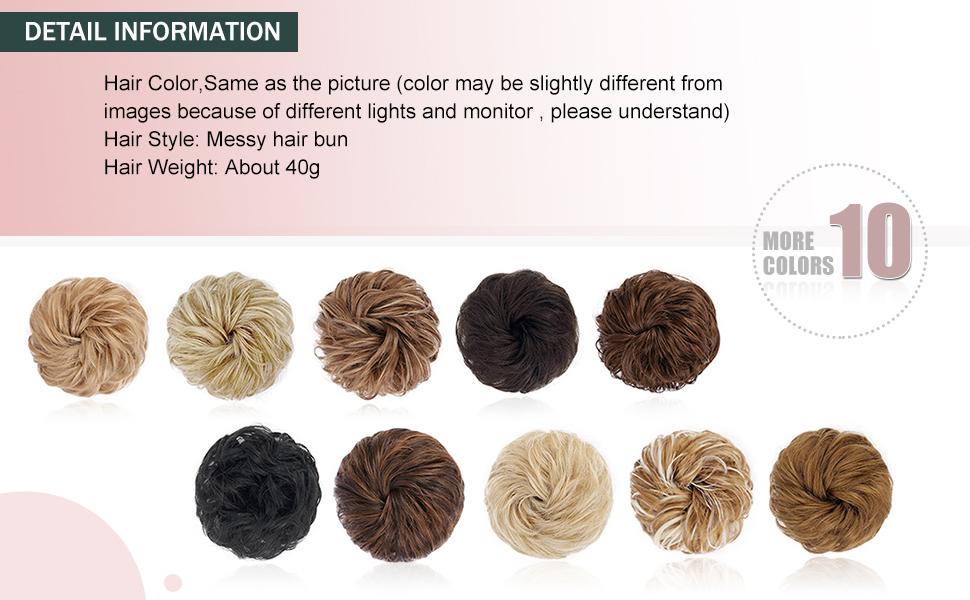 messy bun hair piece scrunchie bun hair pieces for women messy hair bun chignon hairpiece