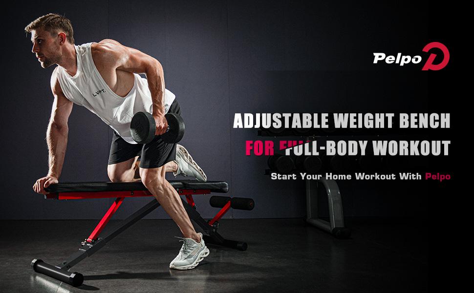 pelpo brand, weight bench adjustable