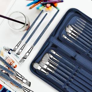 Wash paint brush sets
