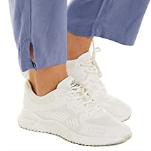 women's yoga pants cotton linen loose fit lounge walking pants with pockets black  women's casual
