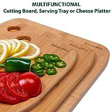 bamboo cutting board set, cutting board bamboo, wooden cutting board with handle, cutting board wood