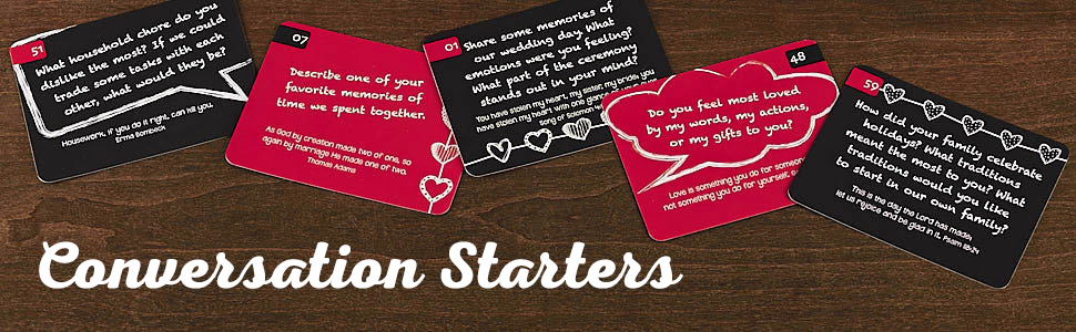 Christian Art Gifts 88 Great Conversation Starters for Husbands and Wives