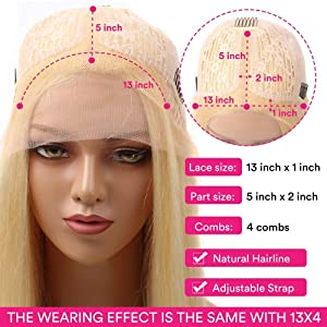 Middle Part 613 Blonde Body Wave Wig