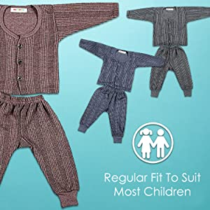 Kuchipoo Unisex Thermal Combo Of 3 Front Open Thermal Set