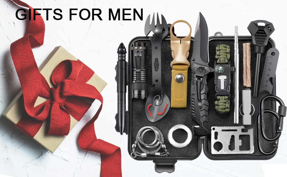 EILIKS Survival Gear Kits 24 in 1